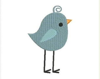 Cute Little Bird Machine Embroidery Design 4x4 5x7 Bernina Brother Pfaff Husqvarna and More