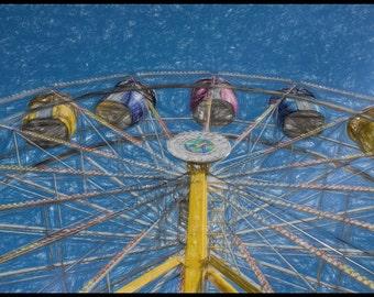 Carnival Color Fine Art Print 12x8  Ferris Wheel Chld's Room Home Decor Primary Colors