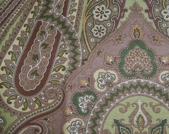 SCALAMANDRE O'MARRA PAISLEY Medallions Fabric 10 Yards Brown Green