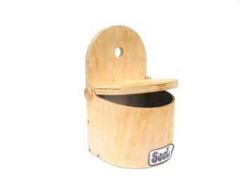 Salt container Wooden salt box Vintage salt cellar Farmhouse kitchen Natural kitchen