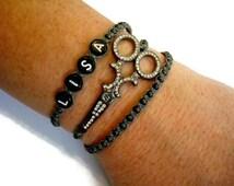 Personalized Scissors Bracelet, Hair Stylist Bracelet, Cosmetology Graduation Gift, Groomer Bracelet