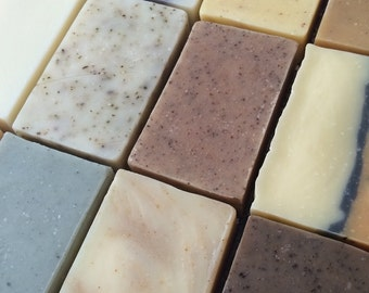 Soap Set - Choose any 4 bars, All Natural, Handmade Cold Process soap, essential oil soap, unscented soap