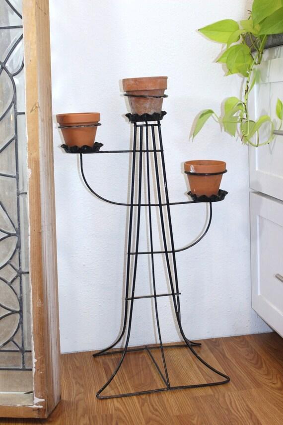 Atomic Metal Planter Metal Flower Pot Stand