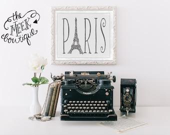 INSTANT DOWNLOAD, Paris, Eiffel Tower, Printable, No. 421