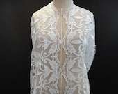 White Bridal Lace, White Lace, Embroidered Tulle, White Embroidery (E2-017)