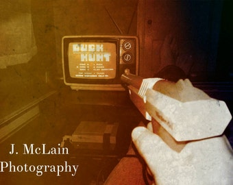 """Photography print - """"Duck Hunt, can't be beat"""" Nintendo"""