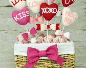 Large Felt Heart -  9cm  Felt Hearts -  You Choose Among 4 colors available - Valentine's Day hearts - Wool Felt Hearts