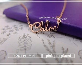 Custom Name Necklace-Personalized Name Necklace-Custom Name Gift-Your Name Necklace-Bridesmaids-Children Names-Tiny Name necklace. #MNF19