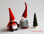 Сouple of Gnomes - pdf knitting patterns. Christmas Ornament. New Year Ornament.