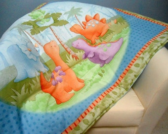 "Large Baby Play Mat Padded Floor Blanket Dinosaurs Boys Tummy Time Newborn Gift Baby Shower Gift Personalize Custom 41"" x 34"" Pastel Colors"