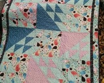 FREE Shipping USA or CANADA Baby Girl Quilt Fabric by Riley Blake