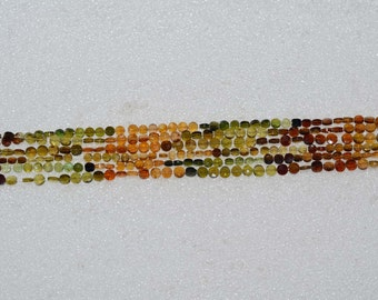 Natural AAA Quality Petro Tourmaline 4mm Faceted Coin Gemstone Beads 13 Inches TS012