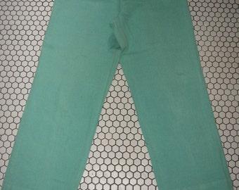 """L.L. Bean 1980s aqua turquoise slacks pants 31"""" waist womens"""