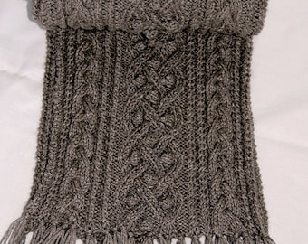 "Pure Qiviut Luxury: Scarf ""Mayne Island"", hand knit in pure undyed qiviut (underdown of the muskox) - MADE TO ORDER"