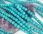 Lot of 5 strands 6mm Turquoise Green Howlite Turquoise Loose Spacer Round 15.5 inch strand (BH4635)