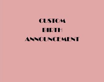 Custom Cross Stitch - Custom Birth Notice - Birth Announcement - Cross Stitch Gift - Custom Gift - Custom Baby Gift - Personalized Gift