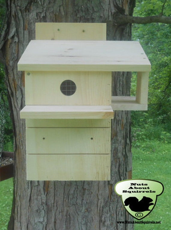 Angled Roof Squirrel Nesting Box By Nutsaboutskwerls On Etsy