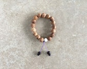 Indian Bodhi Seed Wrist Mala with Nepali Rosewood