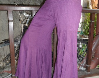 25% OFF CLEARANCE SALE purple cotton flares