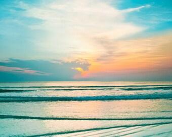New Smyrna Beach Sunrise, Beach Photography, Sunrise Photo, Ocean Waves, Beach Photography, Coastal Photo, Coastal Print, NSB Photo Print