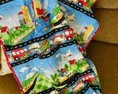 Baby Blanket with travel theme.