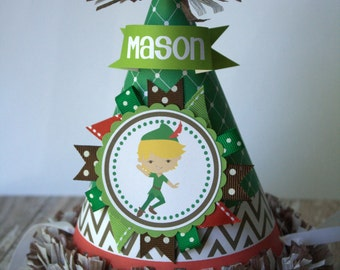 Birthday Hat, First Birthday Peter Pan Party Hat, Peter Pan Birthday Party Hat, Cake Smash, First Birthday Outfit