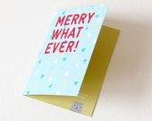 Funny Christmas Card, Card for all occasions, Love Card, xmas, x-mas card, set of 4