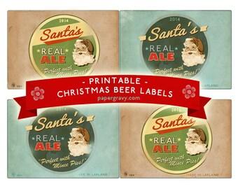 Printable Christmas Beer Bottle Labels 2014