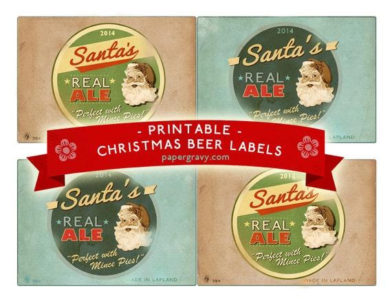 Geeky image inside printable beer labels
