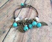 Turquoise/Pearl Bracelet