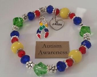 Autism Bracelet, autism jewelry,autism,stretchy bracelet,bracelets,awareness bracelet,at your witts end,autism awareness bracelets