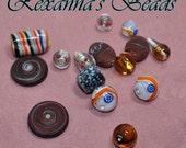 Assorted Lampwork Bead Mix- Set of 15