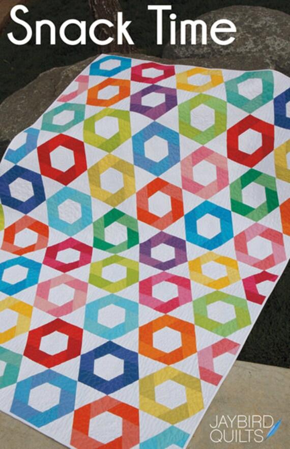 Snack Time Quilt Quilten Muster Jaybird Sammelflächen 5 Größen DIY Great für 2 1/2 Streifen Jelly Rolls