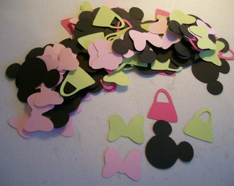 Minnie Mouse Party Confetti- 150 Piece Minnie Mouse Confetti- Minnie Mouse Birthday Party