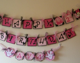 Minnie Mouse Birthday-Minnie Mouse 2nd Birthday- Minnie Mouse Birthday Decoration