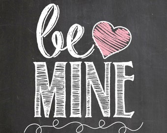 Chalkboard Valentines / Love prints