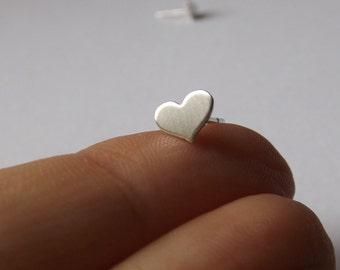 Tiny Heart Earrings,Small Heart Earrings,Heart Earrings,Matte Earrings,Stud Earrings,Valentines Earrings,Modern Jewelry,Minimalist,Gift