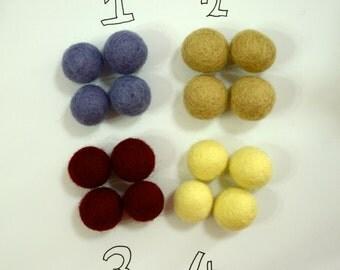 20pcs 2cm Wool Felt Balls (Pick 1 Color): Purple, Khaki, Burgundy, or  Lemon Chiffon