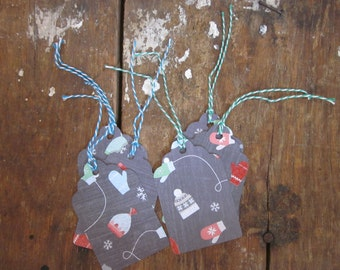 Hat & Mitten Christmas Tags - B2G1 - Buy 2 Get 1 Free