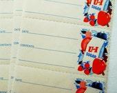 24 Vintage Canning Labels - 2 Dozen Unused 1960s U&I Sugar Labels - Old Household Ephemera