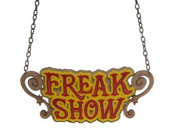 Freakshow necklace - laser cut acrylic