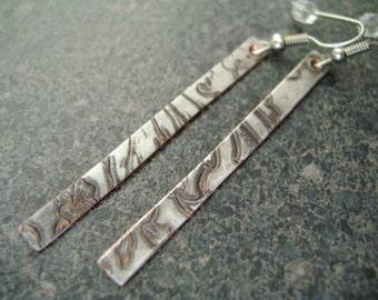 HEAVENLY - Earrings, Jewelry, Silver Plate Jewelry, Silver Jewelry, Paddle Earrings, Reclaimed Metal, Hypo-Allergenic, Lightweight Earrings