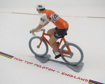 Metal Cyclist Figure - Luis Ocana - BIC - 1973 - Tour de France -  Handcrafted French Cycling Figure