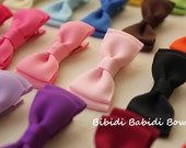 Mini tuxedo bows - set of 20 - girl hair accessory-  Birthday gift - 1.00 hair bows - hair accessory - You can choose colors