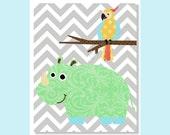 Nursery Art Prints, Baby Boy Nursery Prints, Safari, Jungle, Nursery Wall Decor, Chevron, Grey, Zoo Nursery, Green, Children Wall Art, Fun