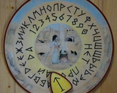 """FREE SHIPPING - Ouija board - Spiritistic board - Talking board """"Magic Circle"""""""