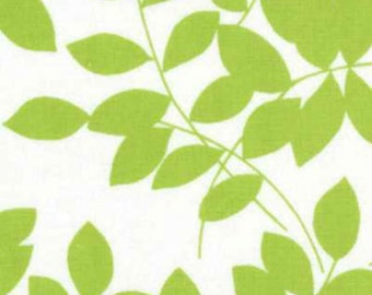 Moda - Half Moon Modern Leaves in Lime 32351-19 by the Yard