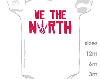 Raptors 'We The North' Cute Onesie for your little Raptor