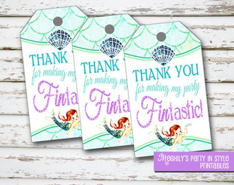 INSTANT DOWNLOAD - Mermaid Favor Tags