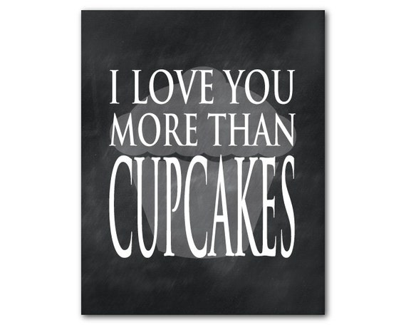 i love you more than cupcakes wall decor by. Black Bedroom Furniture Sets. Home Design Ideas